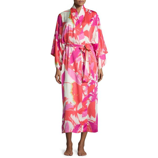 00d208aec5 Natori Lucent Palms Robe ( 180) ❤ liked on Polyvore featuring intimates