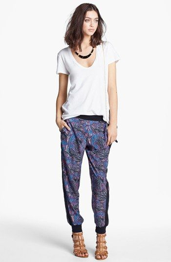 018866c1ca10 James Perse Perfect 10 Tee   Print Tapered Trouvé Pants, Carole Enamel  Armor Statement Necklace
