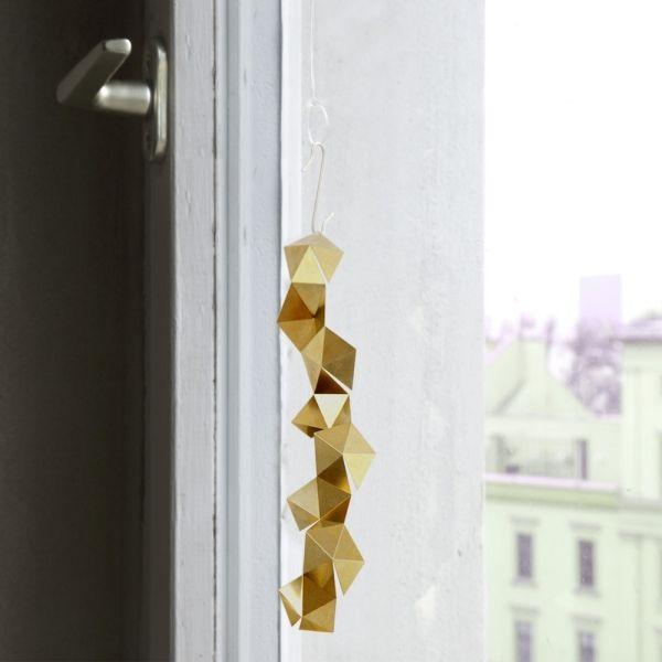 deckengestaltung selbermachen bastel ideen deko geometrisch gold - Ideen Fur Deckengestaltung
