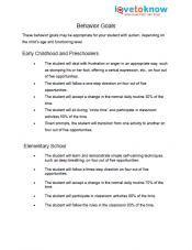 005 IEP Goals for Autistic Students Behavior goals, Writing