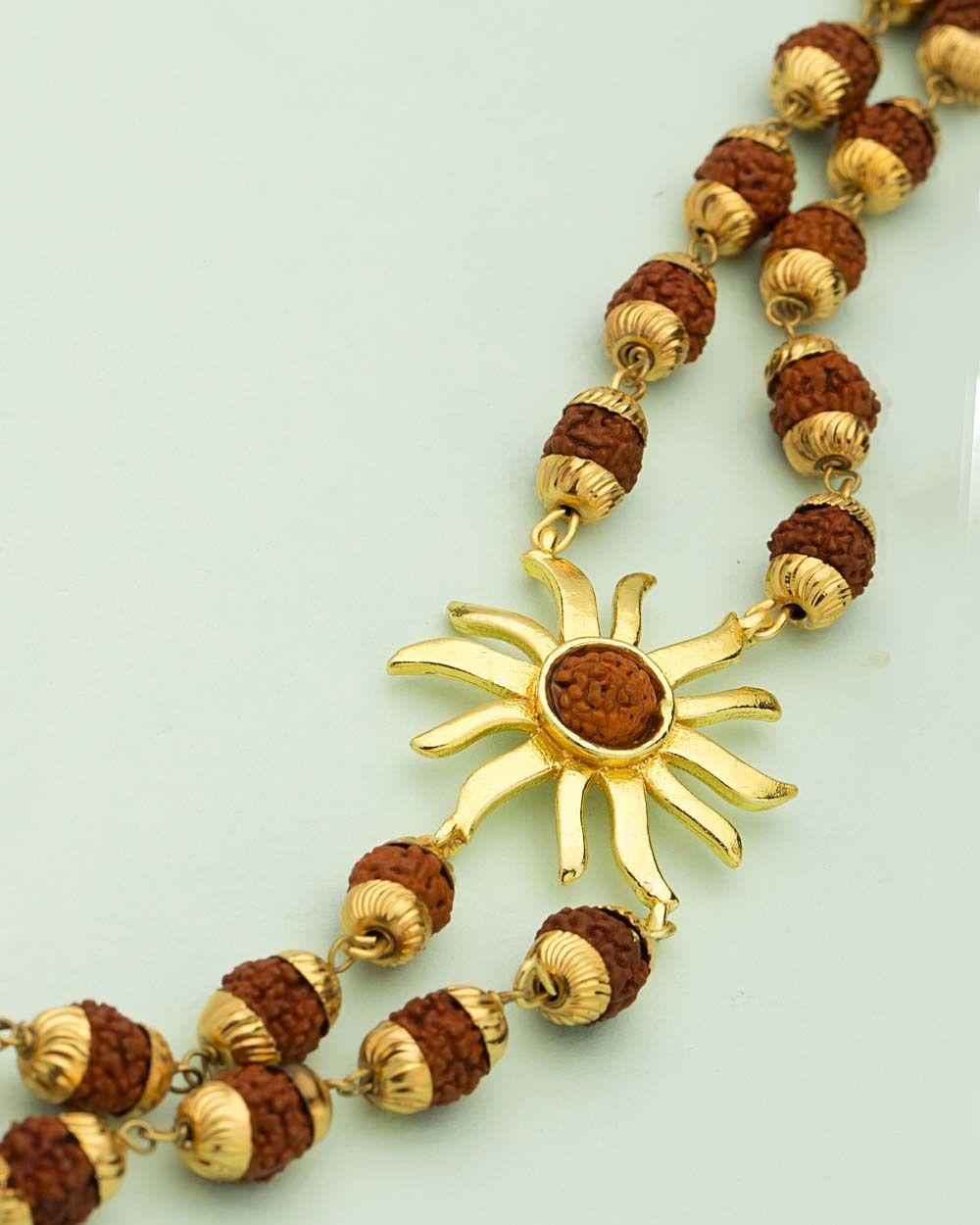 Handmade Ethnic-Tribal Necklace Boho Jewelry Rudraksha /& Glass India  Necklace Yoga Jewelry