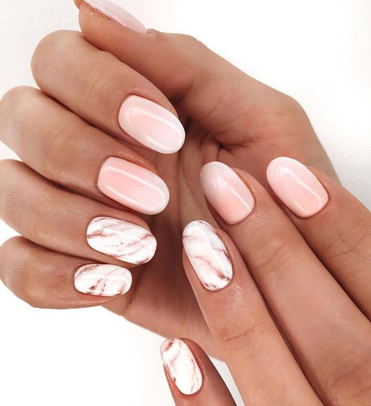 Nails Gel Acrylic Designs Pink Marble Marble Acrylic Nails Short Acrylic Nails Oval Nails