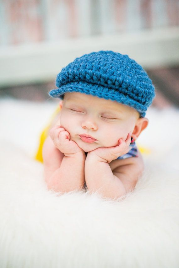 7b0fbf3cf4b Denim Blue Baby Boy Hat Irish Donegal Cap Newborn Baby Hat Crochet Irish  Donegal Hat Newborn Baby Boy Newborn Photo Prop Newsboy Hat