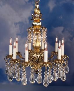 J Getzan Dollhouse Miniature Chandeliers Wrought Iron Copperware