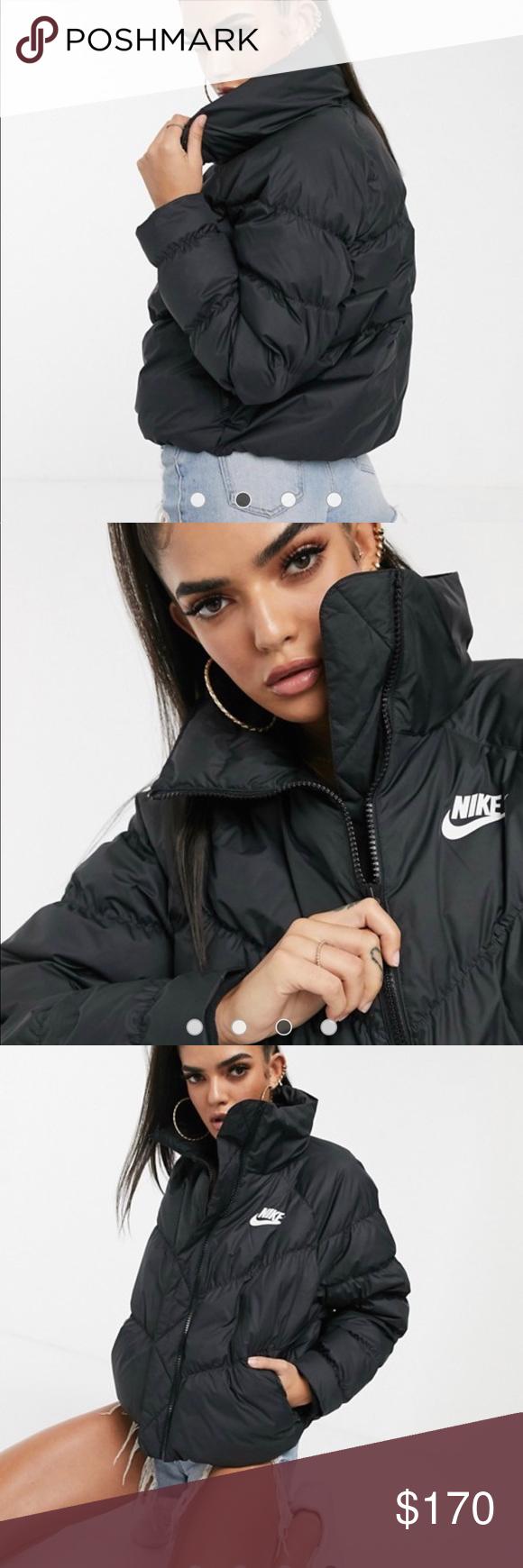 Nike Mock Neck Puffer Jacket Jackets Puffer Jackets Mock Neck [ 1740 x 580 Pixel ]
