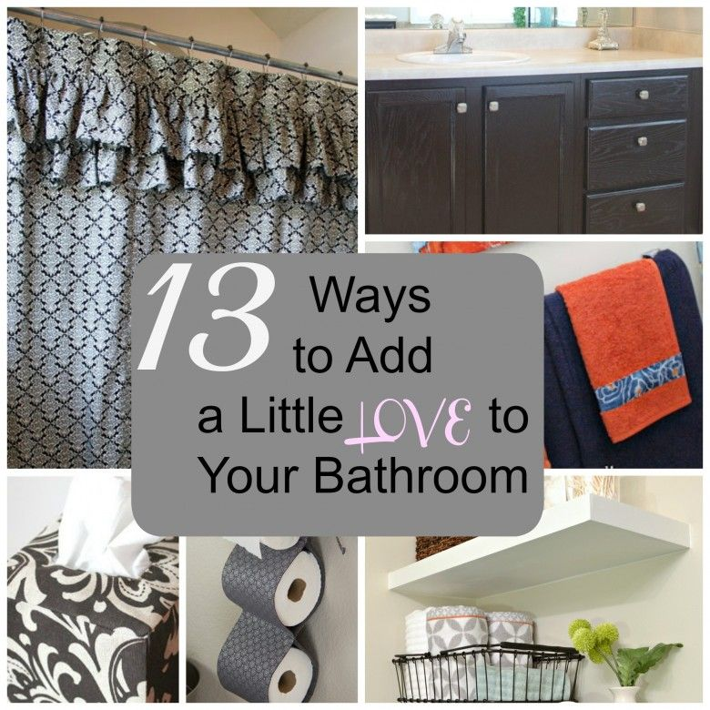 13 Ways to Add a Little LOVE to Your Bathroom