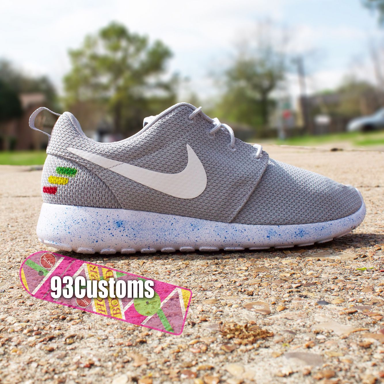 cc242ebf546f Custom Marty McFly Air Mag Inspired Roshe Runs! Make sure to follow on  Instagram