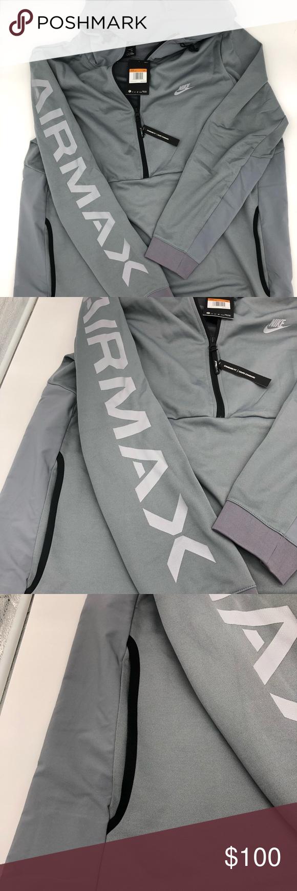 2XL Mens Nike Air Max Half Zip Pullover