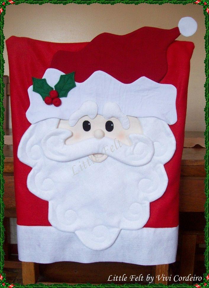 Capa para cadeira Natal, christmas chair\'s cover | Navidad ...