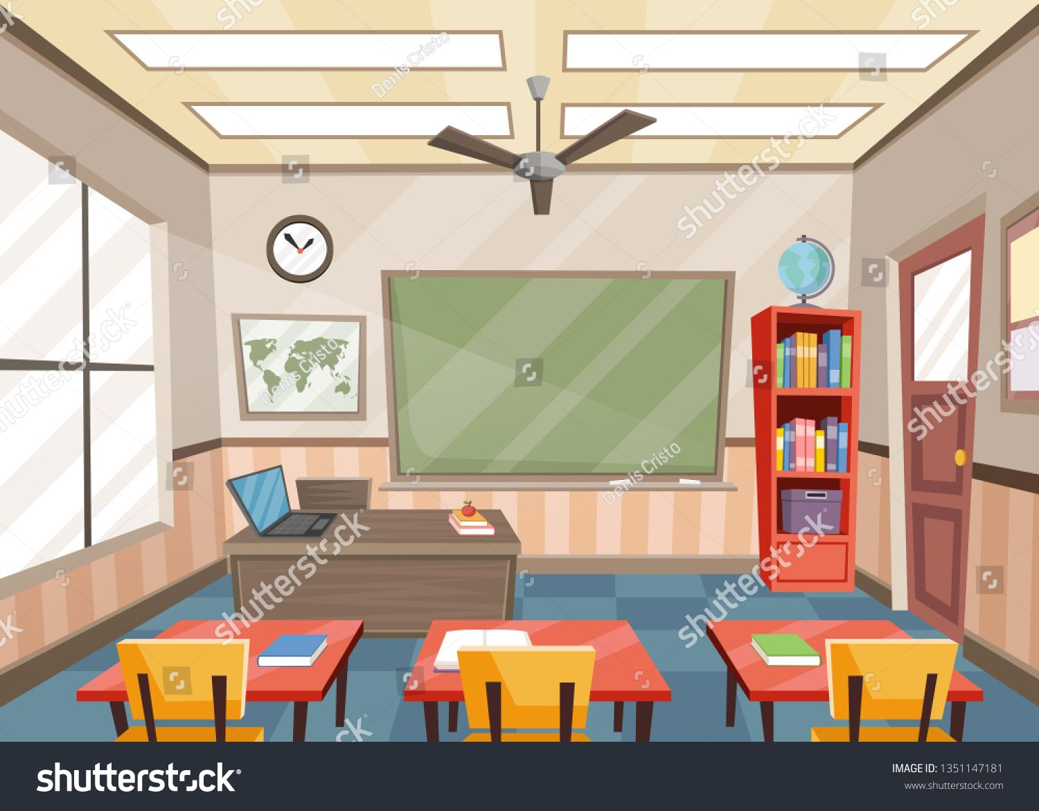Empty Classroom With Tables And Chairs School Ad Spon Classroom Empty Tables School Classroom Tables Classroom Inspiration