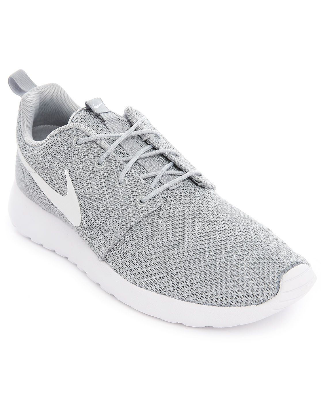 Nike Roshe Run Grey Mesh Sneakers in Gray for Men (grey