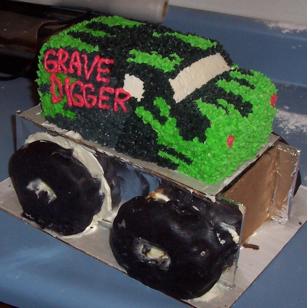 Monster Truck Cake Mold Pin Grave Digger Monster Truck