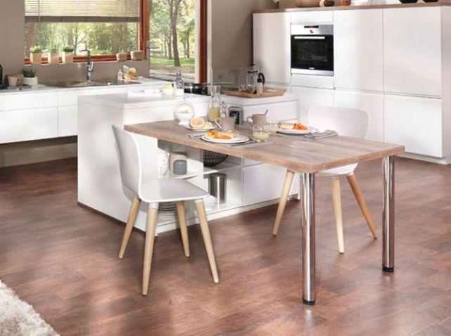 Cuisine avec table en bois conforama Cuisine Pinterest
