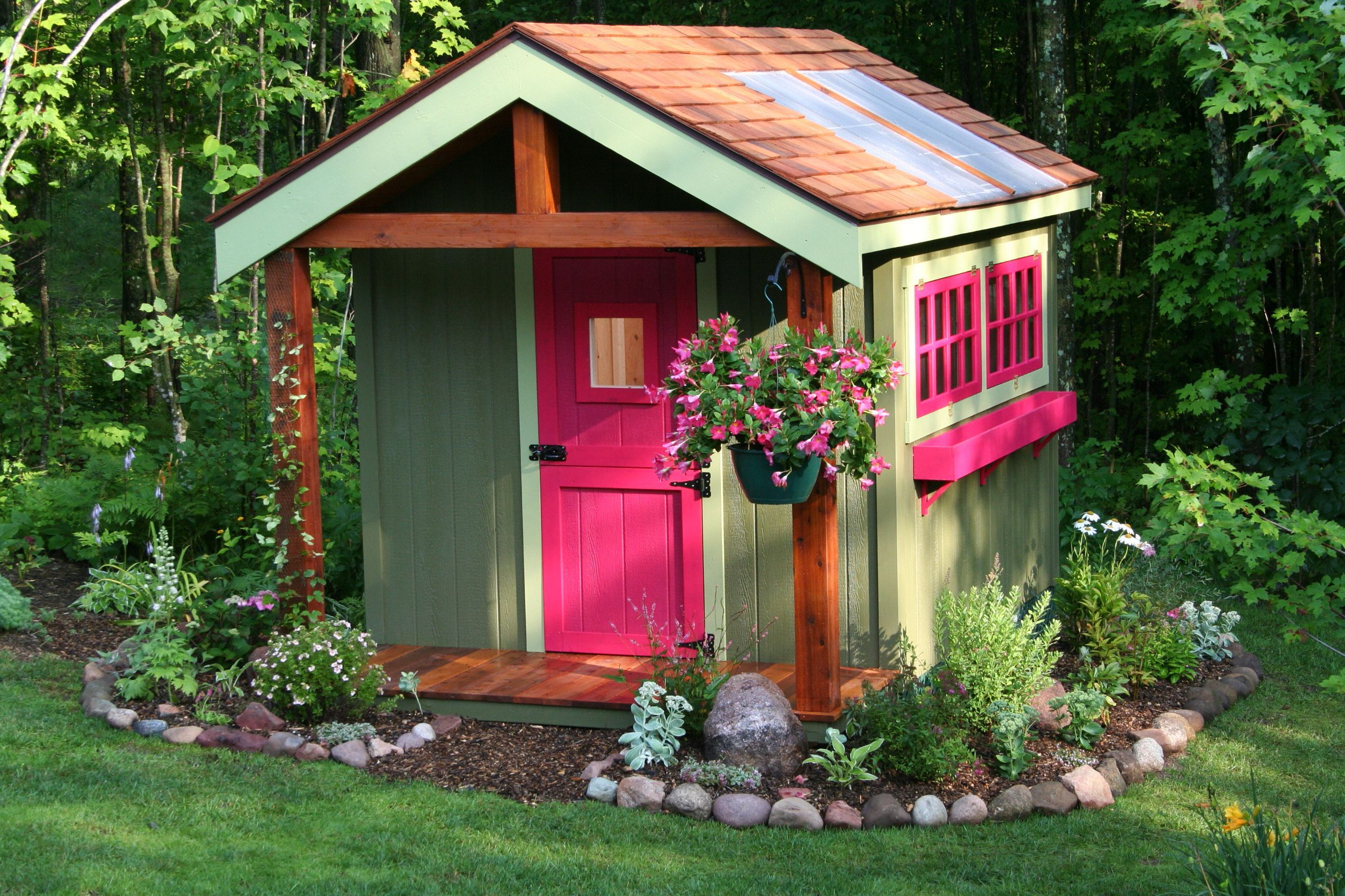 Garden Shed Landscaping Ideas Flamboyant Garden Shed For