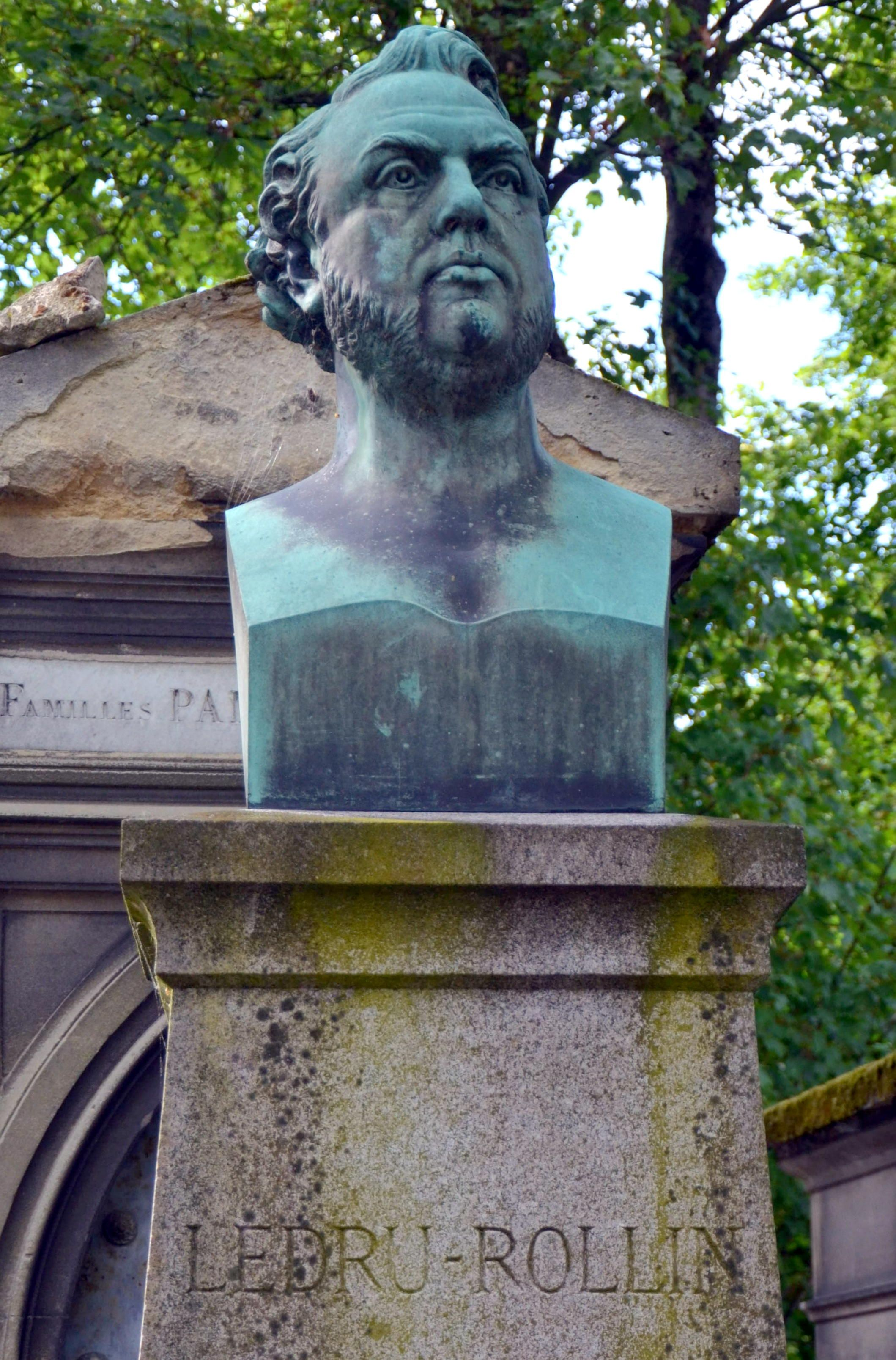Buste d\'Alexandre Ledru-Rollin (1807-1874) par David d\'Angers. Il ...