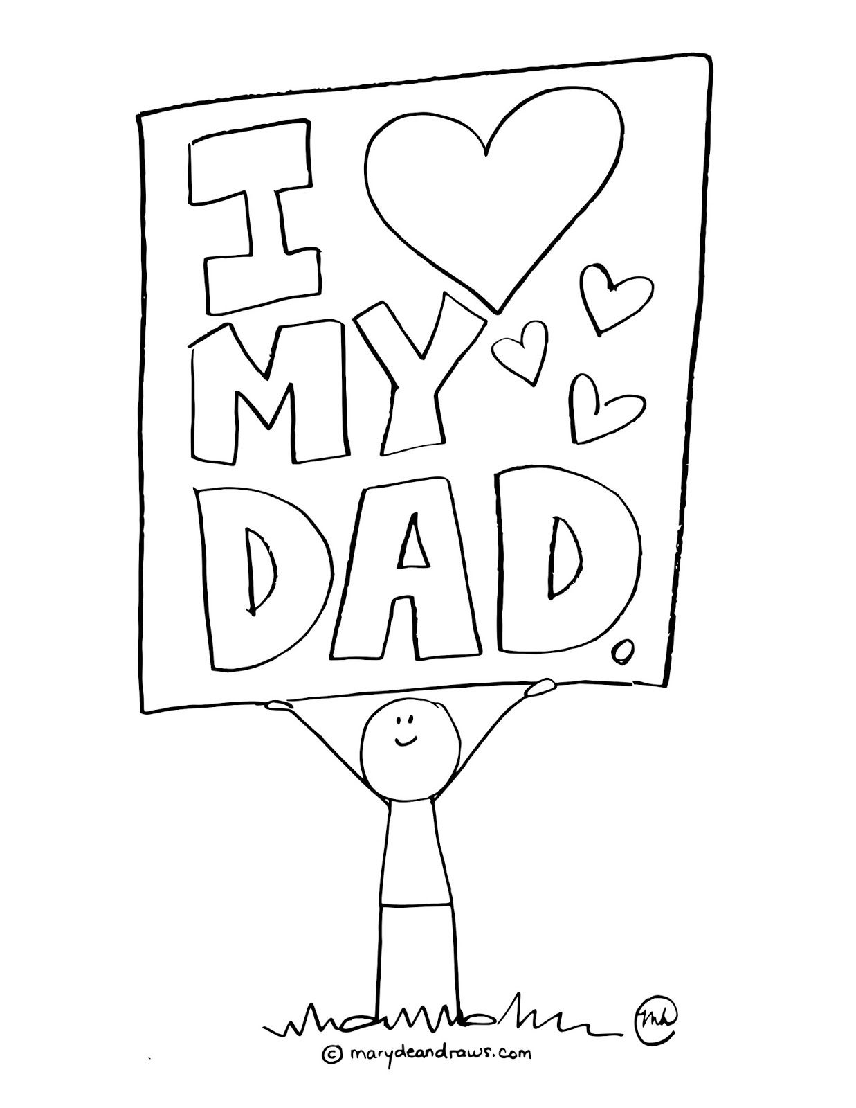 father's day printable coloring page Father's day