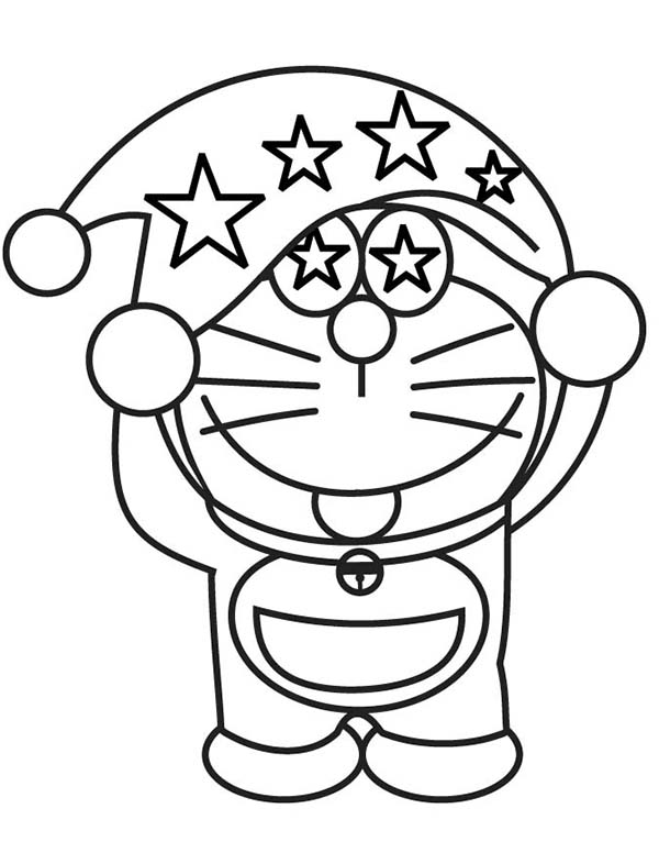 Doraemon Wearing Magician Hat Coloring Pages Netart Unicorn Coloring Pages Coloring Pages Cartoon Coloring Pages