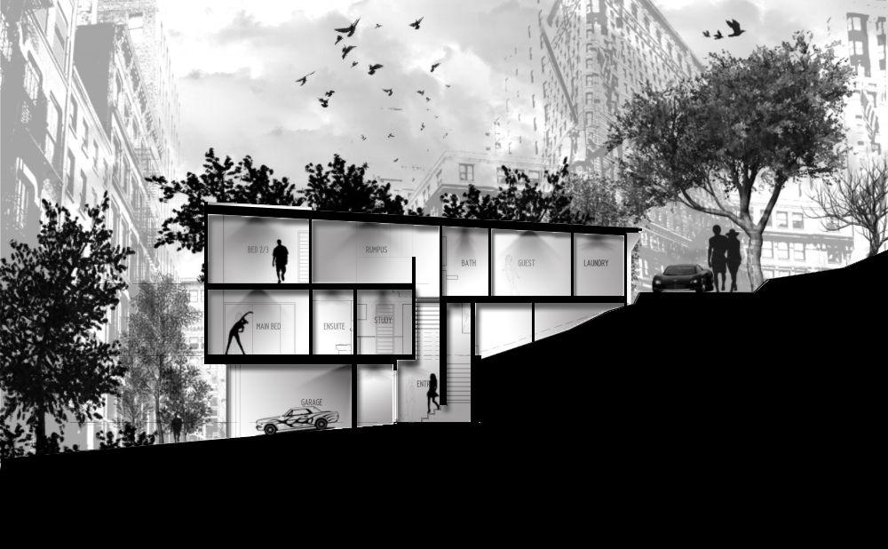 My Photoshop Presentation | Architecture: Section