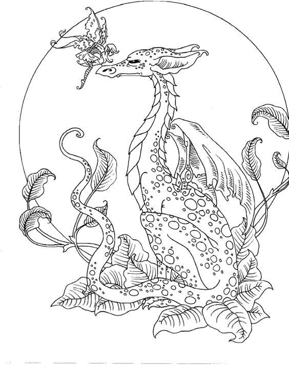 coloring pages of mystical characters - photo#7