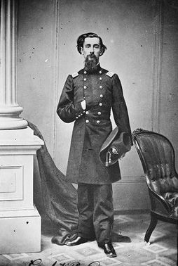 Col. Henry B. Carrington - On December 21, 1866 the commander of Ft. Phil Kearney was led to believe that a wood cutting detail from the fort was under attack. Col. Henry B. Carrington sent Captain William Fetterman and eighty-one men to rescue them.