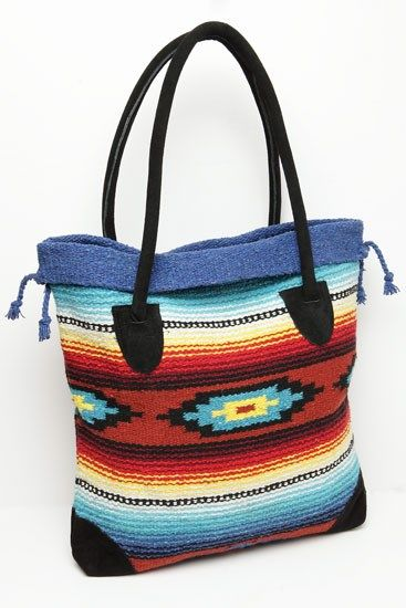 Southwest Style Tote Bag Jane Mexican Rug Crochet Bags Diaper