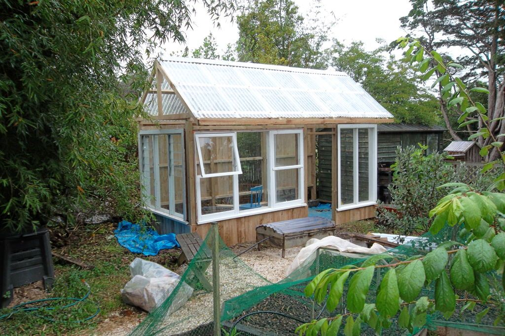 Greenhouse made from recycled windows recycled windows