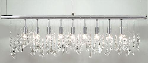 linear strand crystal chandelier z gallerie # 1