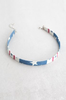 Denim Choker | Stars and Stripes
