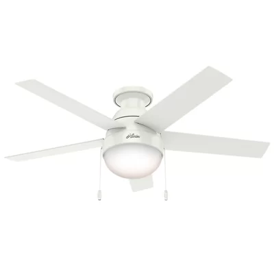 46 Anslee 5 Blade Led Flush Mount Ceiling Fan With Pull Chain And Light Kit Included Ceiling Fan With Light Ceiling Fan Fan Light