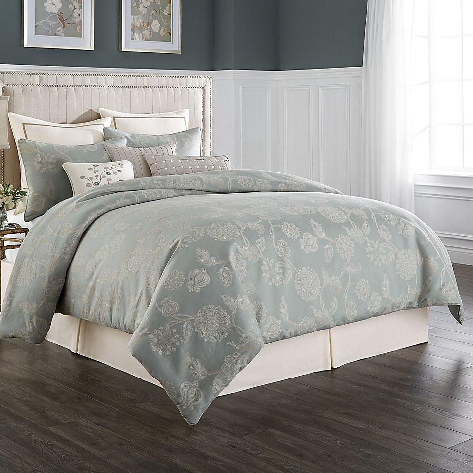 comforter nature ivory inspired piece embroidered set atlantis