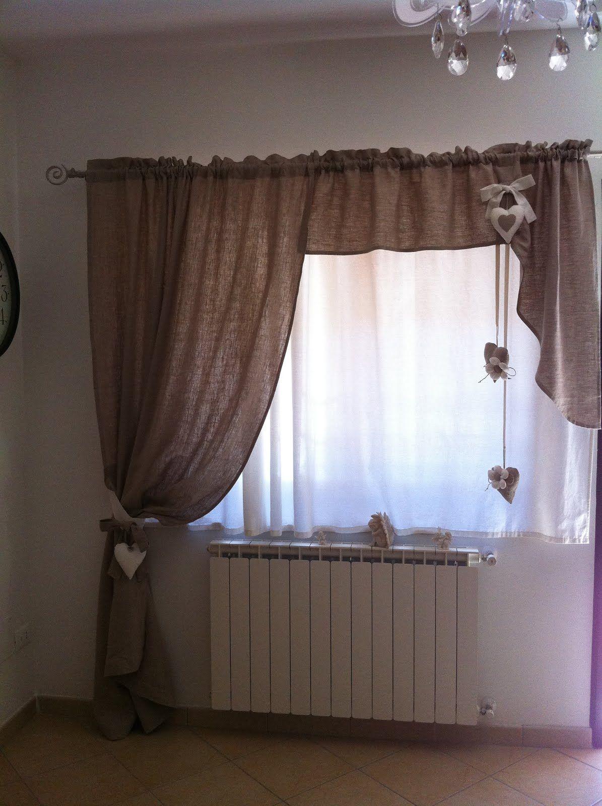 Tenda Shabby  Projects to Try  Tende soggiorno Tende salotti e Mantovane tende