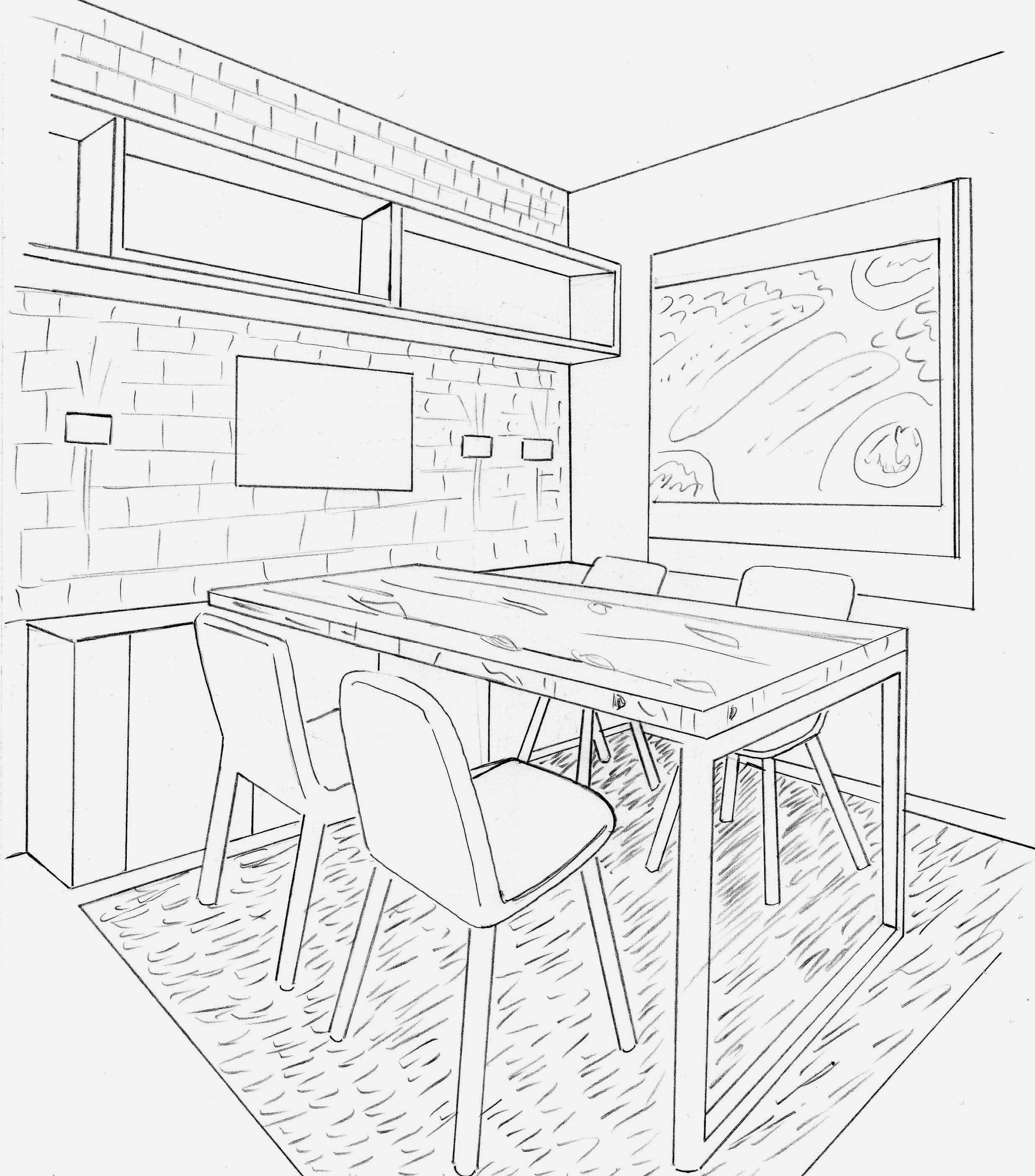 када рисунок в столовой рисовать должна