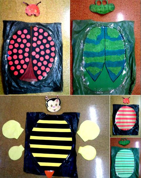 Disfraces de bichos con bolsas de basura bolsa de basura for Disfraces de bichos