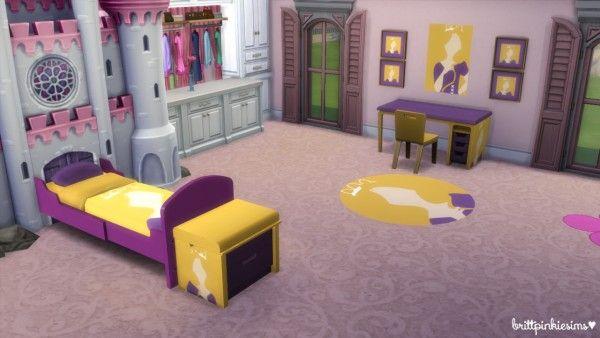 Brittpinkiesims Disney Princess Bedroom Set 2 0 Sims 4 Downloads Disney Princess Bedroom Set Disney Princess Bedroom Princess Bedroom Set