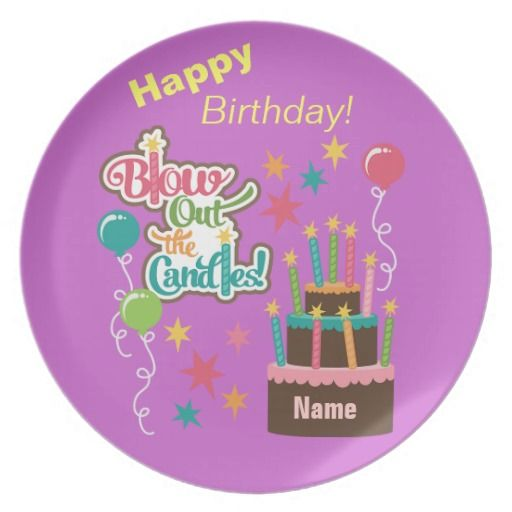 Blow Out the Candles Custom Birthday Plate $26.95