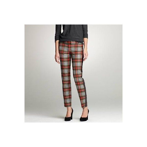 Cropped plaid tuxedo pant ($60) found on Polyvore