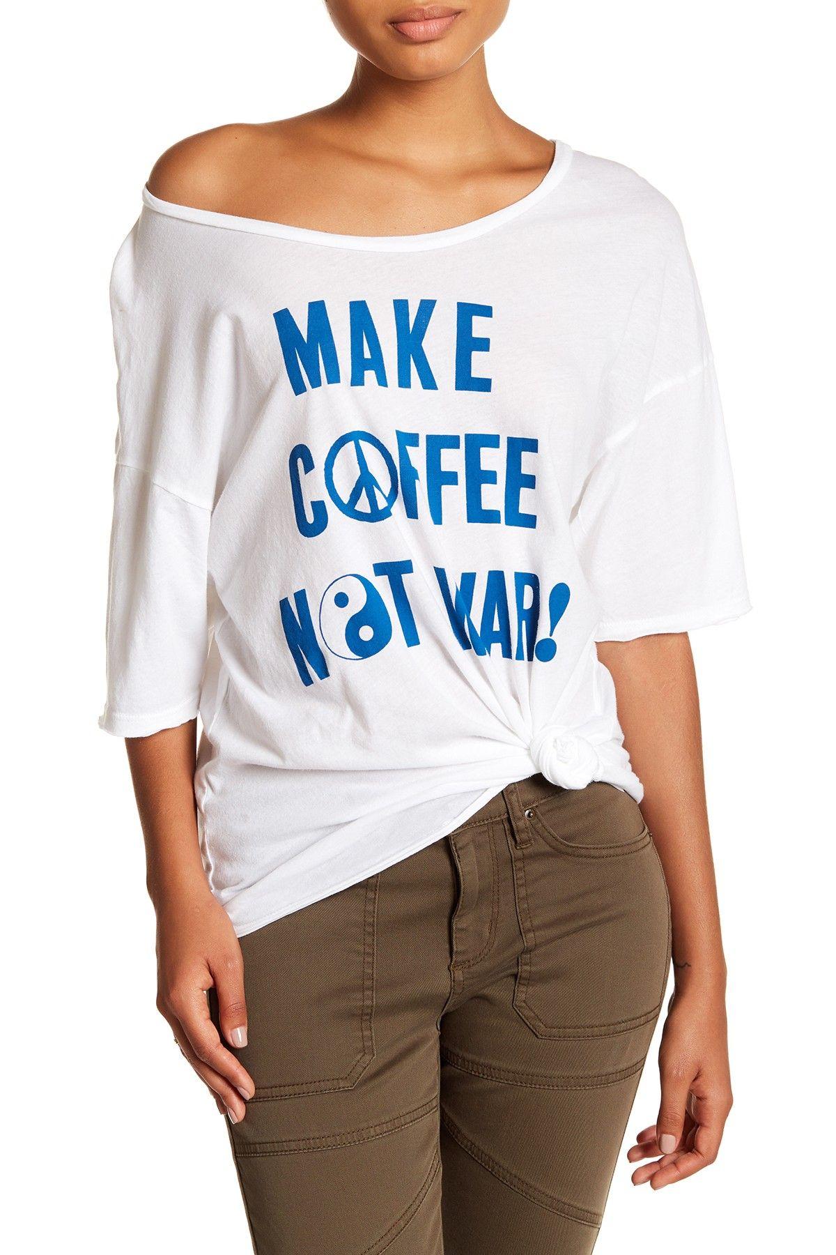 JUNKFOOD Make Coffee Not Jersey Tee Tees, Sweatshirts