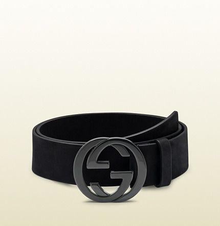 64e5e8852af Gucci black suede belt with interlocking G buckle - Father s Day Ideas  (gifts for dad)