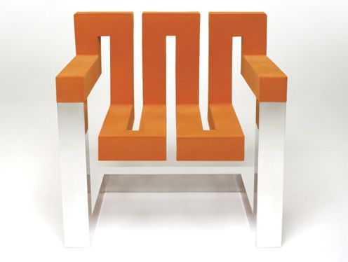 modern furniture :: zig zag chair - designer wallace moder