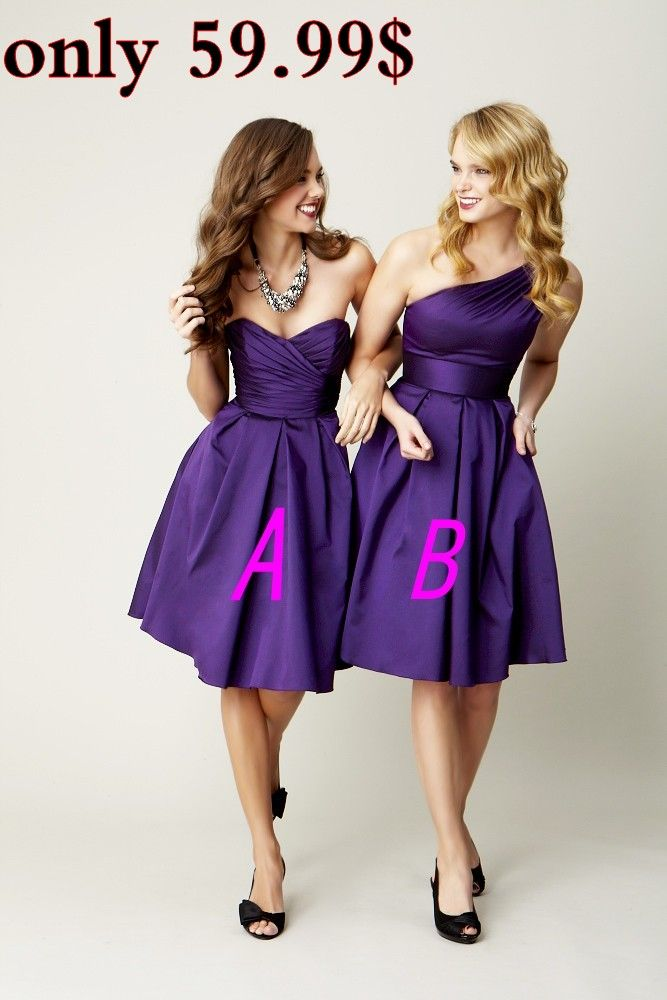 cheap Royal Purple Bridesmaid Dress,Country Style Bridesmaid Dresses ...