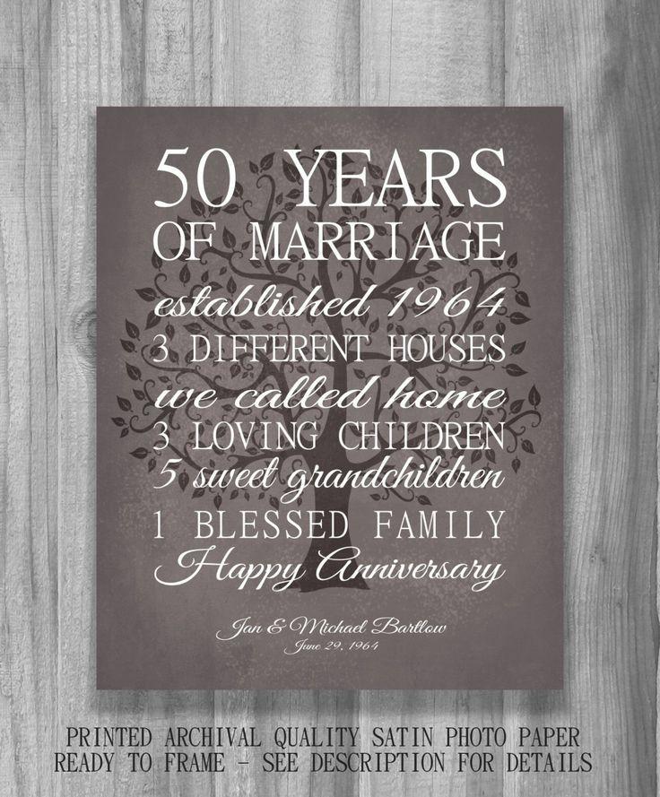 50 Year Anniversary Gift Ideas