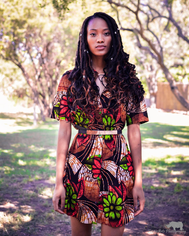 Ankara shirt dress African print shirt dress