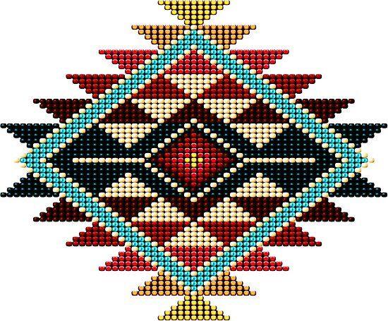 'Native American Southwest-Style Rainbow Sunburst' Poster by Ricky Barnes