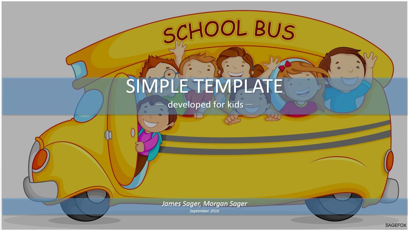 School bus simple powerpoint free powerpoint templates pinterest school bus simple powerpoint toneelgroepblik Images