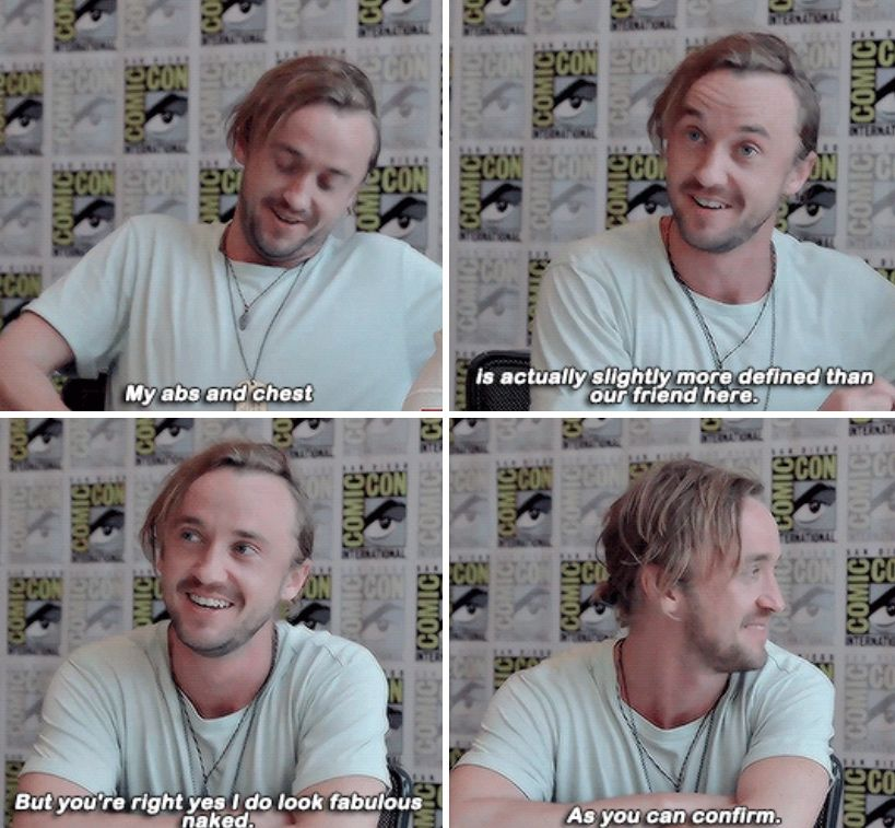 With you Tom Felton Naked