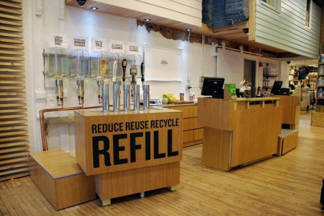 The Refill Odyssey The Search For Eco Friendly Refill Stations In Nyc Zero Waste Store Zero Waste Grocery Store Recycling Station