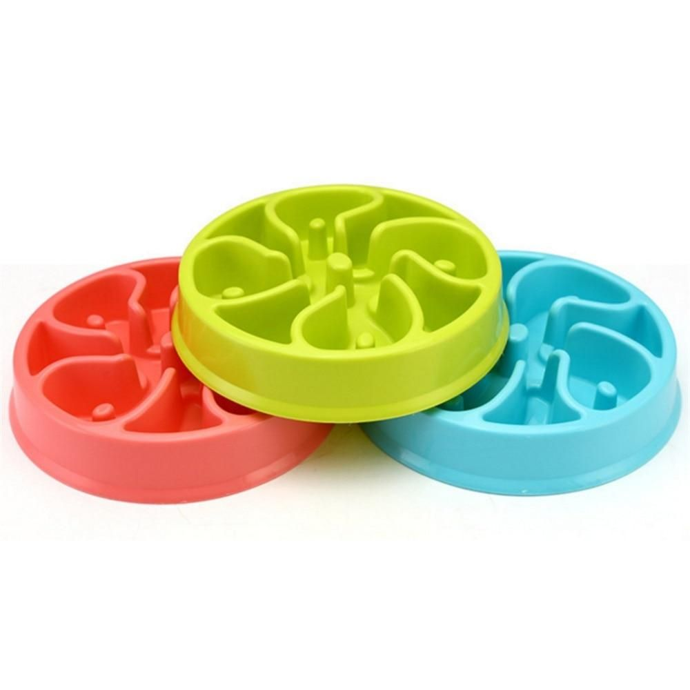 Slow Down Pet Food Plate For Cats Dogs Dog Bowls Dog Feeding