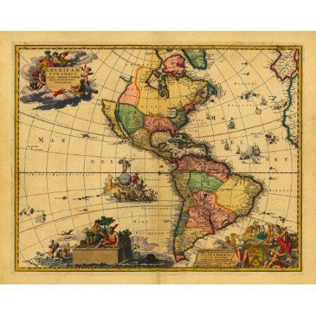 America 1700 americam utramque visscher danckerts keulen www world projections antique historical royalty free clip art maps gumiabroncs Image collections