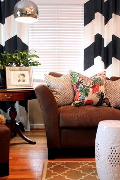 House Revivals: 17 Pretty Ways to Decorate With a Brown Sofa This.