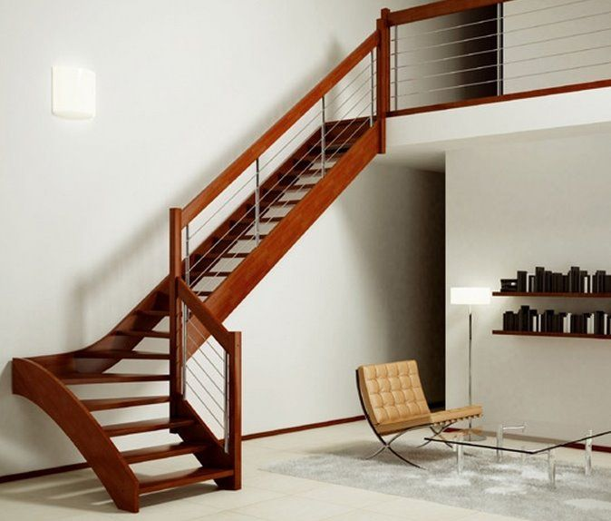 Cu nto mide una escalera pasamanos pinterest - Escaleras interiores medidas ...